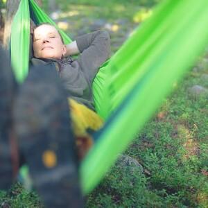 Arctic Day Dreaming in Hammock, Rovaniemi