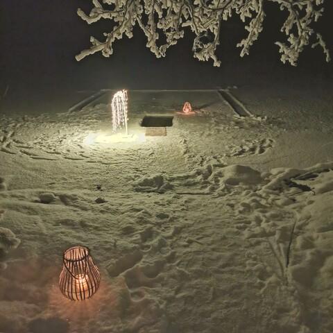 Grandfather's smoke sauna and ice hole by the lake Puruvesi