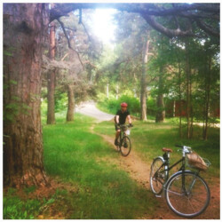 Cycling at Aulanko National Forest