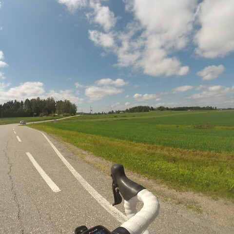 Coutryside roads by roadbike.