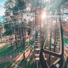 Challenge yourself at adventure park