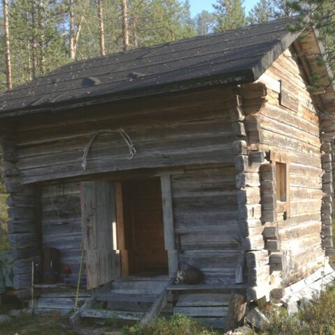 Traditional Finnish sauna in 300 years old sauna hut