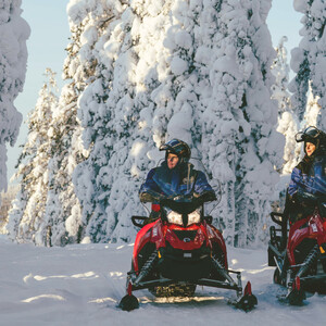 Snowmobile Safari to the Arctic Circle Forest, Rovaniemi