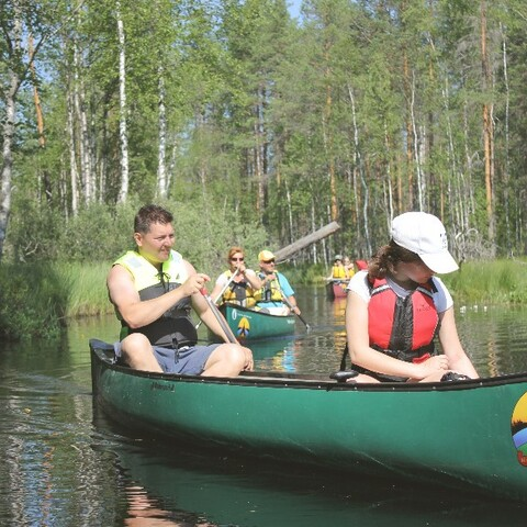 Canoeing trip with stories to Southern Konnevesi National Park.