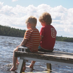 Spending time on a private island in Lake Saimaa