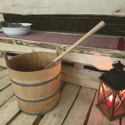 Finnish traditional sauna turn for women