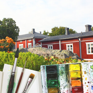 Art painting in Old Rauma, Rauma