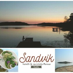 Delicious food in beautiful archipelago nature