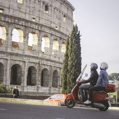 Enjoy Rome on the back of a vintage Vespa