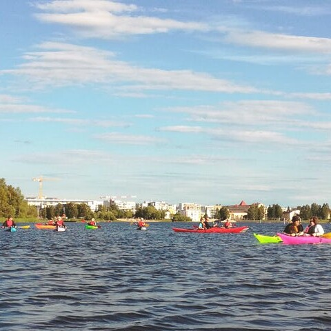 Kayaking trip to River Oulu delta