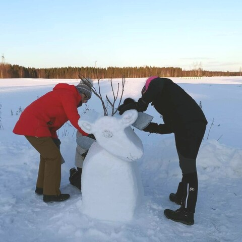 Snow Sculpting Activity