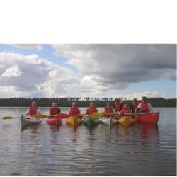 Paddling in Oulujoki