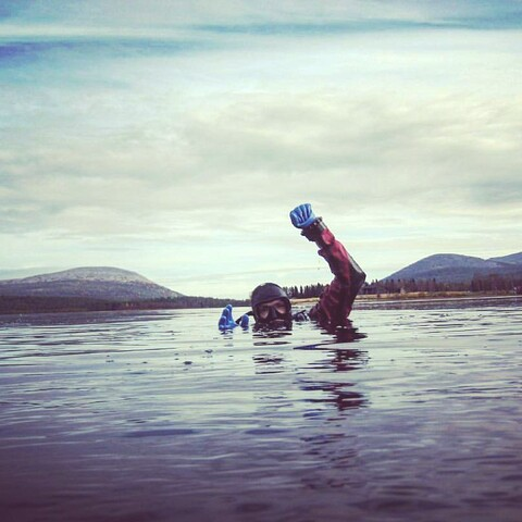 Try scuba diving in the local lakes!