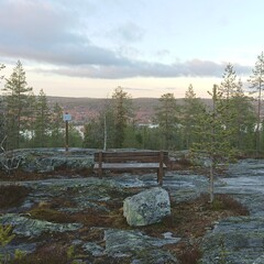 Relaxing walks in Ounasvaara hill in Rovaniemi