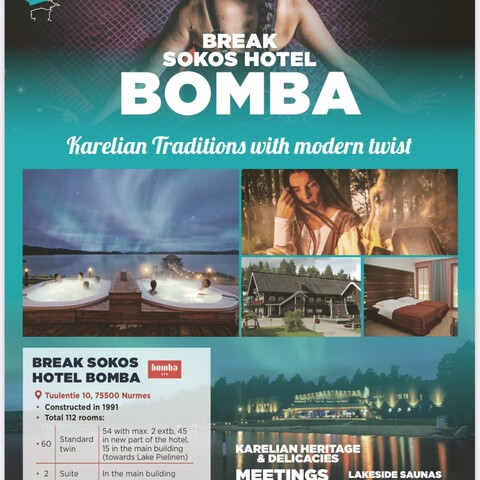 Your perfect winter holidays in Nurmes Bomba SPA