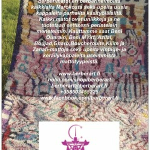 Exhibition of authentic Moroccan Berber rugs by BerberArt