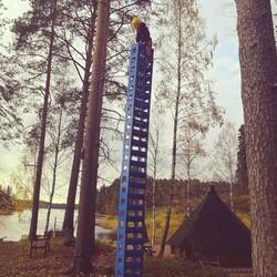 Seikkailuelämys Oulujoen rantatörmällä