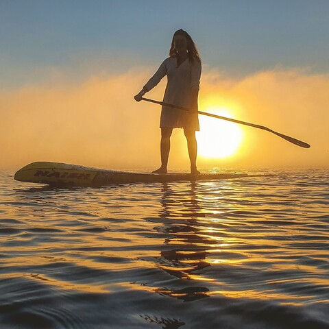Magic of the morning - SUP tour and everything Sup- tour