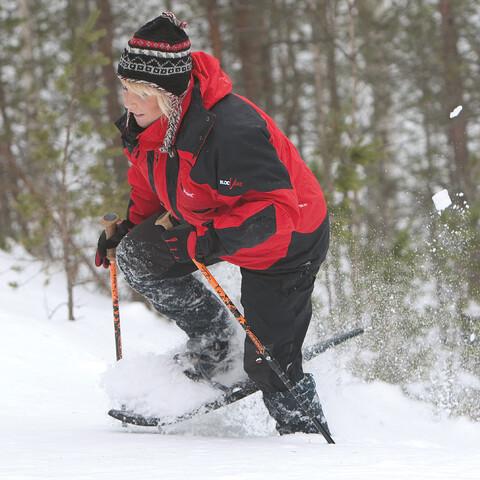 Snowshoeing in Rokua