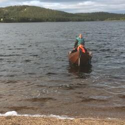 Rowing boat trip to Ounasjärvi