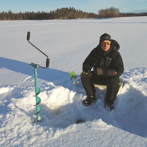 Ice-Fishing on Forest Lake