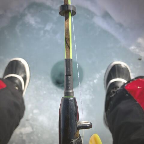 Ice fishing day in Käsivarsi Wilderness Area