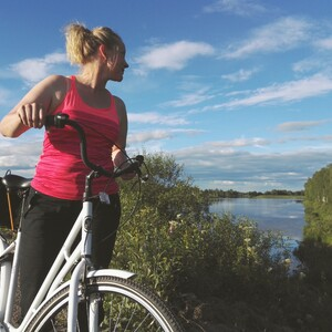 Slow Life by Biking in Countryside, Rovaniemi