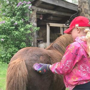 Children's riding lesson, Kitee