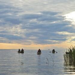 Nightless night canoeing