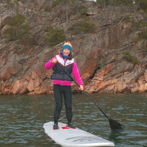 Stand Up Paddle Boarding on Björkholm island