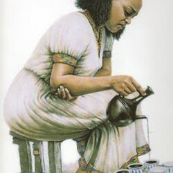 Authentic Ethiopian Coffee Ceremony