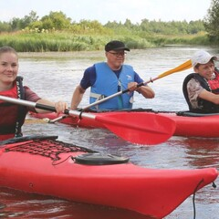 Kayaking trip to River Oulu delta