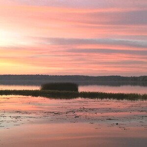 Soutuveneretki pieneen saareen mato-onkien kanssa, Lapinjärvi