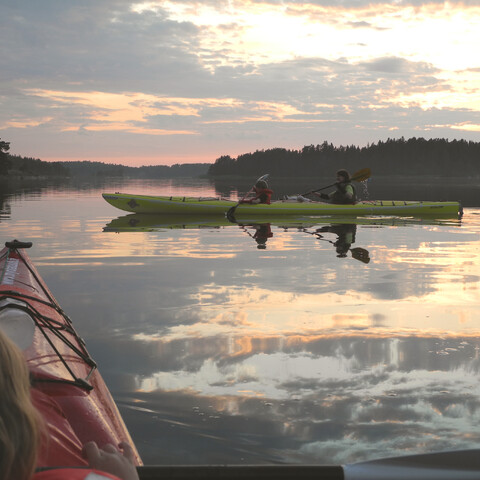 Midnight paddling