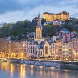 Visit of famous places of Lyon, 里昂