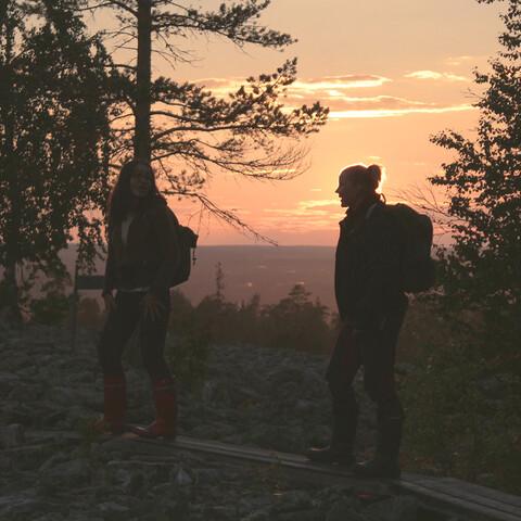 Slow Hiking in Midnight Sun