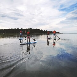 Island SUP experience: boat trip, SUP course, sea food lunch