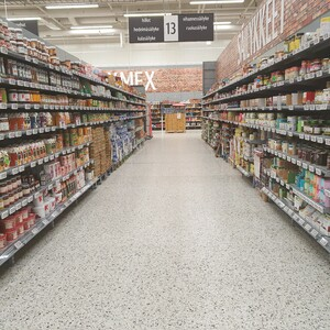 Tour in local grocery store, Jyväskylä