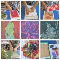 Get inspired in Iittala  - gel printing workshop