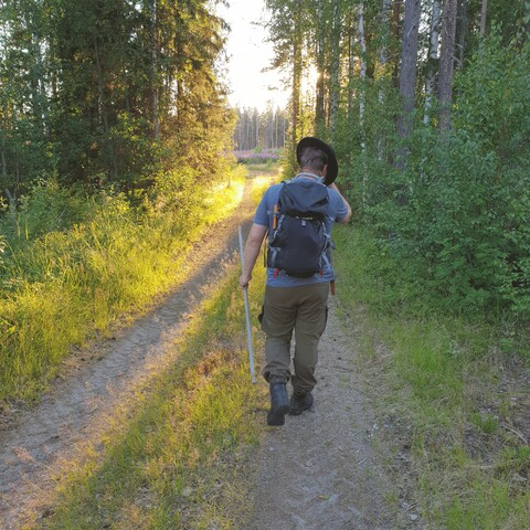 Slow Hiking in Midnight Sun