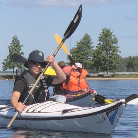 Guided Kayak Tour on Lake Saimaa
