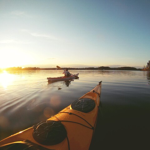 Kayaking in Kitee wilderness