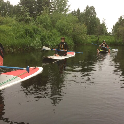 Stand UP Paddling at Rovaniemi