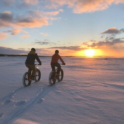 Put your helmet on and jump on fatbike in Kalajoki