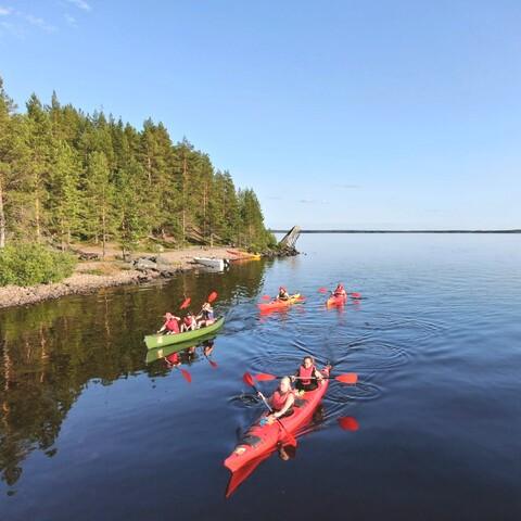 Kayaking ABC on Kivesjärvi, Paltamo