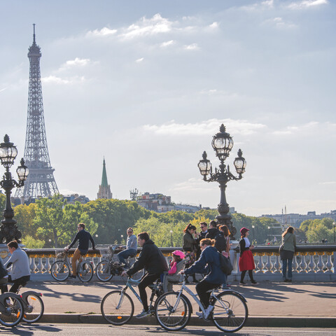 Bike ride in the most beautiful Paris