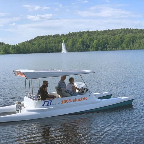 Rent a solar-powered boat