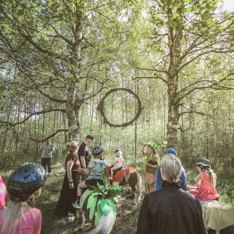 A magical pony ride in a real fairytale forest