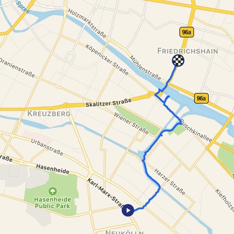 Walk from West to East along the former Berlin Wall