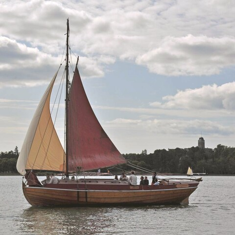 Sailing with a Traditional wooden boat